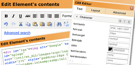 Convert Experiments CSS, WYSIWYG and HTML editors for A/B testing