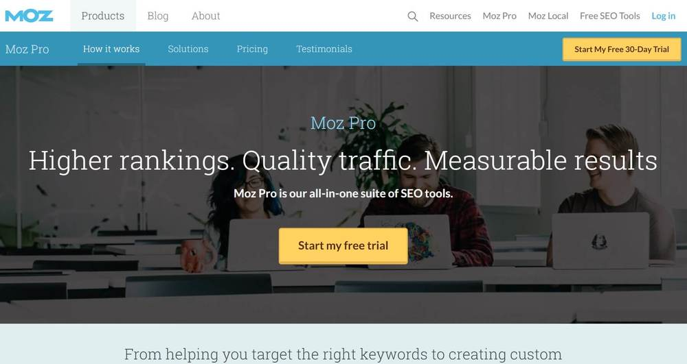 Enterprise SEO Analysis Tools Alternative - Moz pro