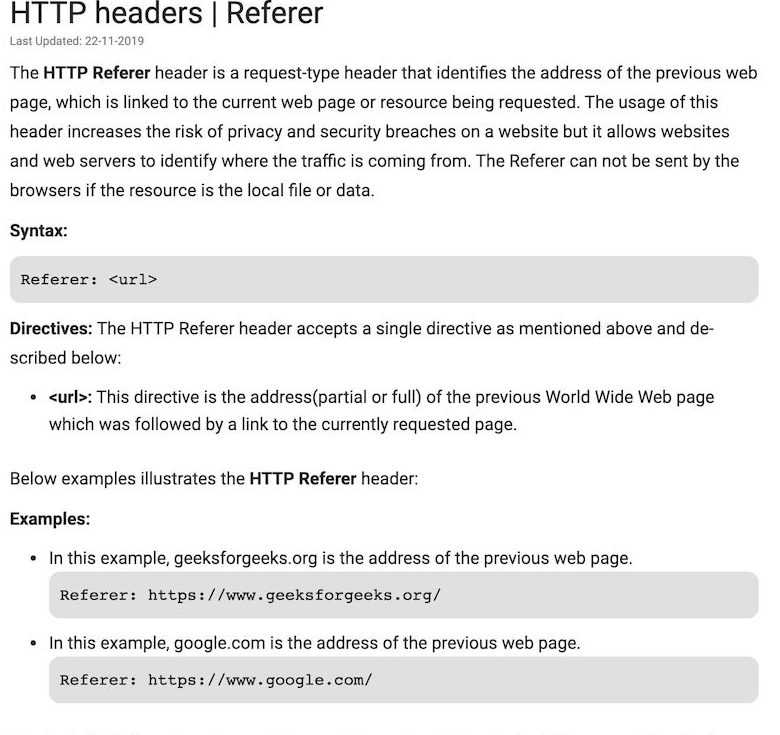 UTM Parameters, HTTP Referrer Definition and examples